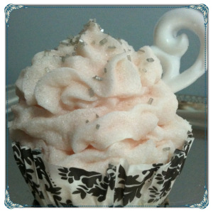 Moisturizing Bath Cupcake Whipped Soap Pomegranate Soap Cupcake With Vanilla Pomegranate Soap Shape