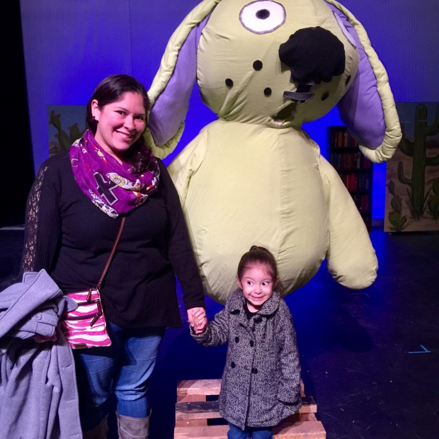Moxie was very excited to see Knuffle Bunny coming to life.